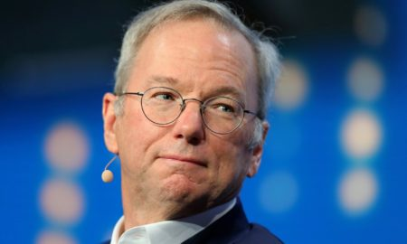 34aa371c e6b7 11e7 a685 5634466a6915 450x270 - Eric Schmidt steps down as Alphabet chairman