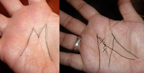 lett - Are you Native American??? Do You Have A Letter 'M' On The Palm Of Your Hand?