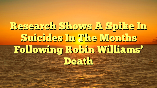 Research Shows A Spike In Suicides In The Months Following Robin Williams' Death